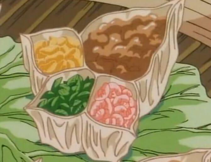 黃金比例三女角分配的靈感來源示意圖 (無關顏色):《中華一番》裡的小當家特製…呃,是解師傅的黃金比例燒賣。